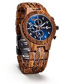 JORD Wooden Wrist Watches for Men - Conway Series Chronograph/Wood and Metal - & Wooden Watches For Men, Cool Watches, Wrist Watches, New Bands, Blue Wood, Wood And Metal, Wood Watch, Chronograph, Bracelet Watch