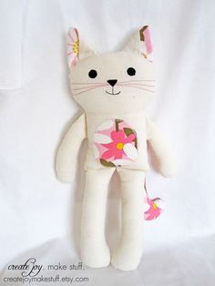 handmade fabric cat doll | etsy.com
