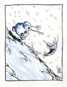 "Olaf~ ""Frozen"" by Skottie Young"