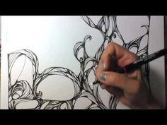 Kritzelei #27 - Zentangle Inspired Art - Speed Drawing - YouTube
