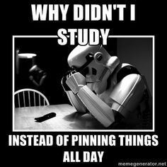 HAHA!! This is exactly me right now. Pinning while I should be studying and doing homework.