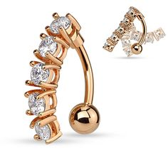 3 Micron 18K Rose Gold Plated Clear CZ Stone Sweet Cat Dangling 925 Sterling Silver Belly Button Ring