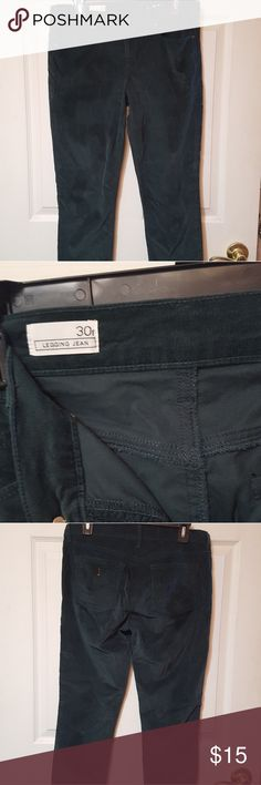 Gap cords Hunter green cords. Velvet like thinner material. GAP Pants