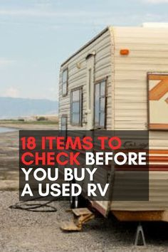 """Pin on """"Camping and RV Living"""" (Group Board) - 18 Items to Check Before You Buy a Used RV. Bus Camper, Camper Life, Rv Campers, Campers For Sale, Trailer Vw, Camper Trailers, Home Made Camper Trailer, Camping Hacks, Travel Trailer Camping"""