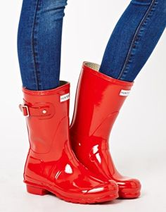 Short Red Hunter Boots available at Nordstrom! :) | Hunter rain ...