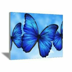 Blue butterfly Morpho, perfect for paint party