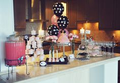 Glamour Party Dessert Spread #sweet16party