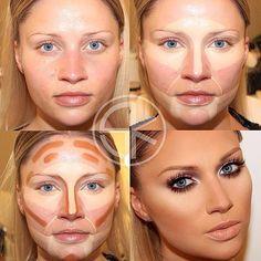 beautifulhighlight and contour makeup - Google Search