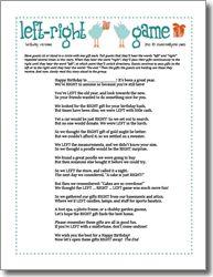 Printable Right & Left - Little Joe Wright - Funsational.com ...