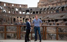 Sightseer: The prince enjoyed a tour of the Roman arena and paid for his own entry 19 May 2014