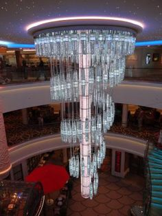 See the Norwegian Getaway Cruise Ship Spa, Casino, Kids' Clubs, and Theater: 678 Ocean Place Chandelier