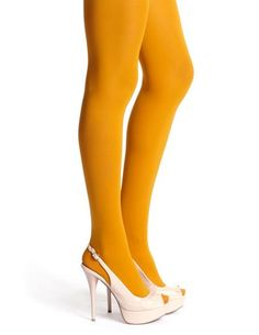 Basic Opaque Tight: Charlotte Russe | Color: Mustard | $6.50 | Size: M/L