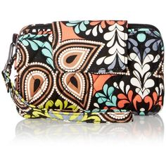 Vera Bradley Smartphone Wristlet 2.0 Wallet ($29) ❤ liked on Polyvore featuring bags, wallets, evening bags, vera bradley, wristlet wallet, holiday bags and vera bradley bags