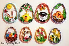 2013 Easter 2D eggs/My own original designs - Facebook.com/Zen Quilling