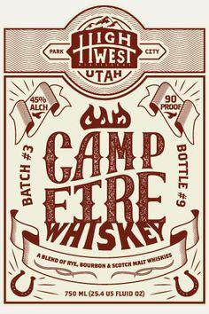 High West Whiskey Label by Tim Praetzel