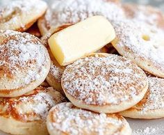 "Poffertjes ""wie vom Jahrmarkt"" Recipe Poffertjes ""The originals"" by Flensburger Jung – recipe in the category Baking sweet Dutch Recipes, Sweet Recipes, Baking Recipes, Cookie Recipes, Yummy Pancake Recipe, Yummy Food, Pancake Recipes, Fudge Caramel, Breakfast Recipes"
