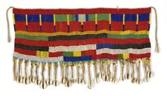 "Woman's cache-sexe Bana Guilli Kirdi people Mandara Mountains, Cameroon  Glass beads, imported from Bohemia, cotton stringing 16 1/2"" x 9 1/2""     42 x 24 cm"