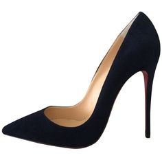 Pre-owned Christian Louboutin So Kate 120mm Us8.5 Eu38.5 Navy Blue... (11.064.155 IDR) ❤ liked on Polyvore