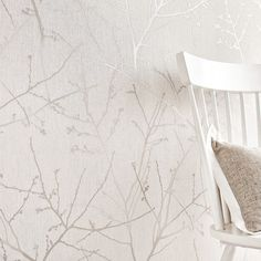 Innocence Wallpaper in Stone and Cream from the Innocence Collection by Graham & Brown