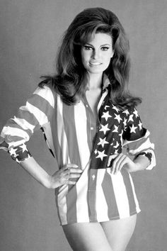 Raquel Welch in American Flag is listed (or ranked) 18 on the list The 20 Hottest Raquel Welch Photos of All Time Rachel Welch, Hollywood Actresses, Actors & Actresses, Actrices Hollywood, Thing 1, Sophia Loren, Famous Women, Most Beautiful Women, Beautiful People