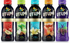 Package design for exotic drinks imported from China.