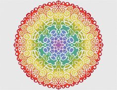Welcome!  Available here is this complete cross stitch kit containing everything you need to stitch this beautifully colourful Spectrum Mandala design. Your kit will come with vibrant DMC threads and uses full cross stitches only. This kit is of an easy skill level for a relaxing project.  Your kit will contain;  A piece of 16 count white Aida fabric, 2 x John James cross stitch needles, Genuine DMC threads sorted onto an organiser, The complete cross stitch chart in colour with key, A…