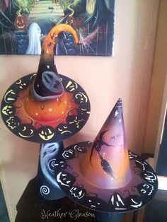 Original One Of  Kind Halloween Witch Hat Decoration