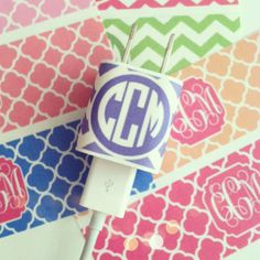 Monogrammed Charger Tutorial...very simple and would be useful for more things than just for a charger! Love It!