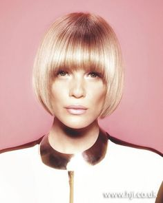pageboy haircut | 2012 blonde smooth bob with fringe