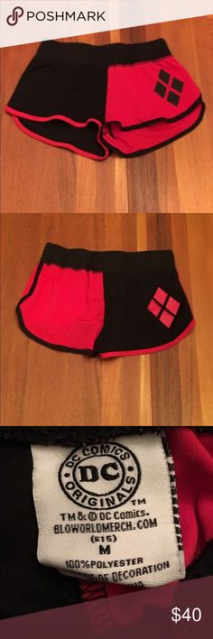Hot Topic DC Comics Harley Quinn Shorts Hot Topic DC Comics Harley Quinn Shorts. Rare and very good condition. Size: Medium but fits like a small. Hot Topic Shorts