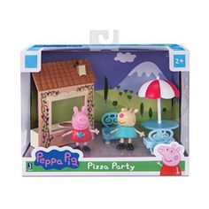 Peppa Pig Pizza Party Set With Peppa Pig & Gabriella Goat Figures - New In Box Peppa Pig House, Peppa Pig Family, Toddler Christmas Gifts, Toddler Boy Gifts, Cafe Window, Playground Set, The Bistro, Happy Birthday Jesus, Pop Display