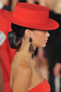 Why are all the hats I love Red!...............  Ralph Lauren Spring 2013