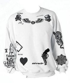 One Direction Zayn Malik Styles The Newest Tattoo Sweatshirt 1D