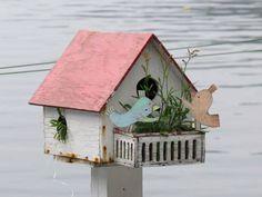 manon gauthier little bird house Cute Little Houses, Soft Sculpture, Various Artists, Belle Photo, Three Dimensional, Bird Houses, Home Art, 3 D, Photos