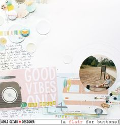 Layout by Ashli using Simple Stories Summer Vibes and {a flair for buttons}.