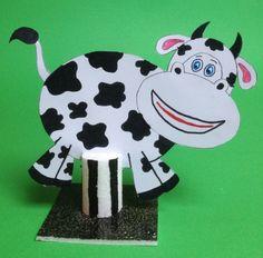 Vache sur mini colonne de Buren