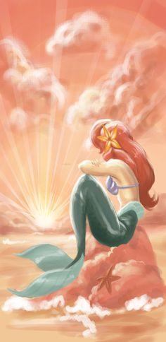 Ariel - The Little Mermaid. Someday I'll  be...part of your world! She is Jada Lynn Coaten's world now. Her best friend.