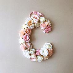 Flower Letters Floral Letter Vintage wedding decor /