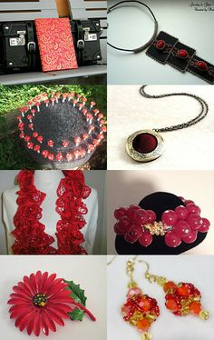 Shades of red by Alfiya on Etsy--Pinned with TreasuryPin.com