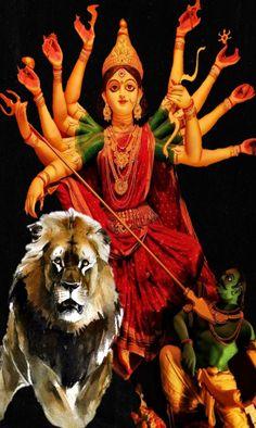 Durga Goddess, Lord Ganesha, Painting, Art, Art Background, Painting Art, Paintings, Kunst, Drawings