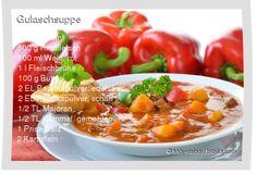 Leckeres Gulaschsuppe Rezept mit einfacher Schritt-für-Schritt-Anleitung: Zwiebeln würfeln , Fleisch in kleine Stücke schneiden , Zwiebeln in einem Top...