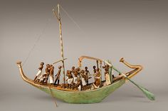 Funeral Boat Setting out under Sail Period: Middle Kingdom Dynasty: Dynasty 12 Reign: reign of Amenemhat I, early Date: ca. 1981–1975 B.C.