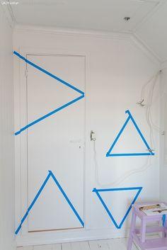 DIY: Geometrisk vegg i vårens farger - LADY inspirasjonsblogg