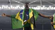 He endeared himself further with the local crowd when he grabbed a Brazilian national flag and wore it with his own