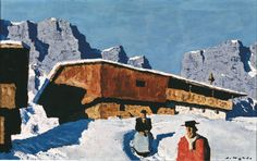 Alfons Walde (1891-1958) Mountains, snow... Oil paintings.