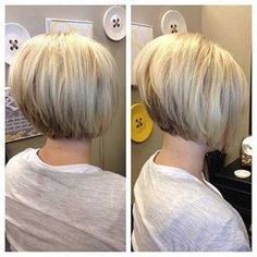 Graduated bob haircuts have always been the most unique and stylish looks for years. They're great for almost any hair type and graduated haircut can make a. Graduated Bob Hairstyles, Stacked Bob Hairstyles, Hairstyles Haircuts, Short Graduated Bob, Medium Hairstyles, Graduated Haircut, Bob Haircuts For Women, Short Bob Haircuts, Short Hairstyles For Women