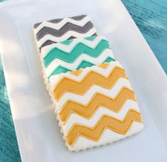 Chevron cookies from @Cally Everett Alvarado The Sweet Adventures of Sugarbelle