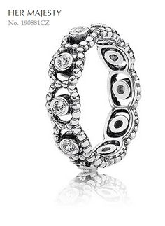 """Girls' night out is the perfect time to show off your """"graceful style."""" Let your personality sparkle & shine with #PANDORA's """"her majesty"""" ring. Fireworks are sure to spark when combined with other shimmering rings!"""