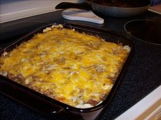 Creamy Burrito Casserole. Food.com  Four and a half stars out of 770 reviews.  Sounds good and easy to make, I'd serve it with a dollop of sour cream and salsa.