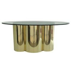 Mastercraft Quatrefoil Design Oval Dining Table